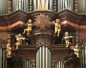 Barocker Orgelprospekt im Dom