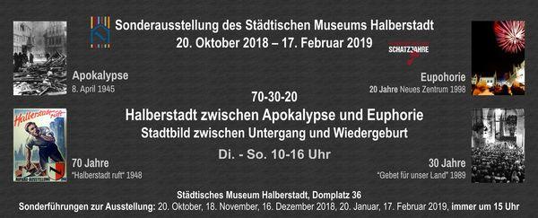 Ausstellung 70 | 30 | 20, Grafik: Städtisches Museum Halberstadt