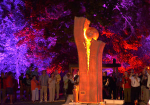 Feuerskulptur, Foto: Reinhard Keitel