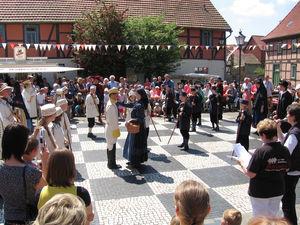 Schachtradition in Ströbeck, Foto: Tourismusinformation Halberstadt